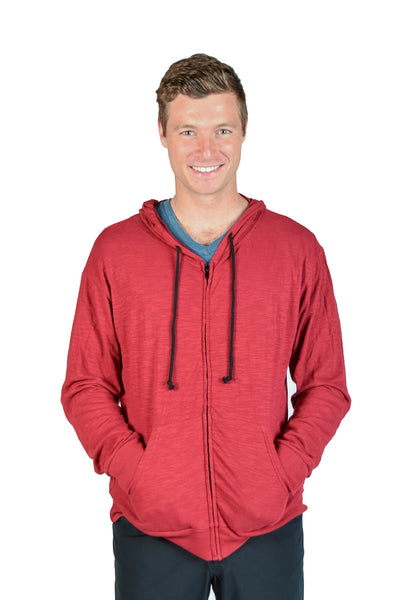 Long Sleeve Zip Up Chakra Hoodie - Third Eye Threads
