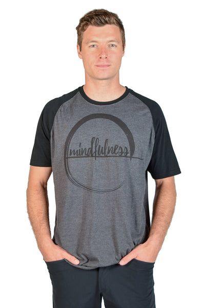 Mindfulness Raglan Short Sleeve Tee - Third Eye Threads