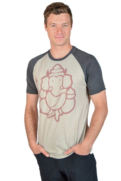 Devil Ganesh Short Sleeve Raglan - Third Eye Threads
