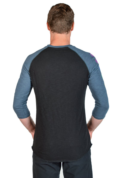 Full Chakra 3/4 Sleeve Slub Raglan Crew - Third Eye Threads