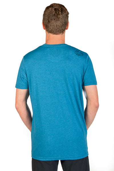 SHIFT HAPPENS ON MEN'S  LINEN BLEND CREW NECK - Third Eye Threads