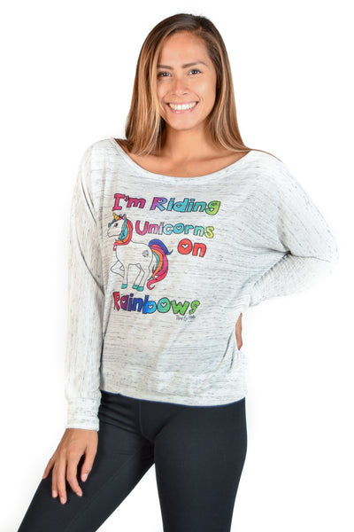 I'm Riding Unicorns on Rainbows Dolman - Third Eye Threads