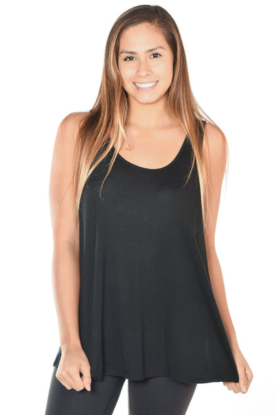 Luxurious Black Modal Tank With Full Chakras