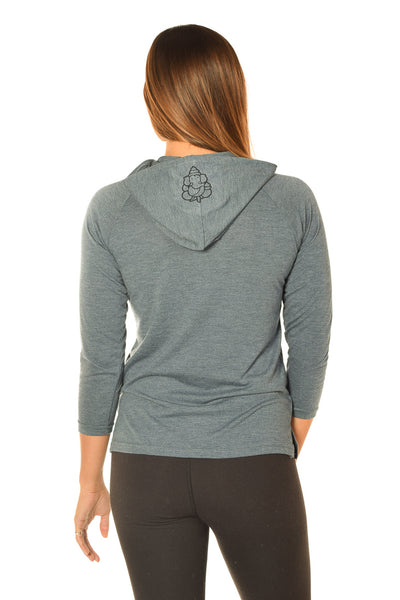IYENGAR SIVA NATARAJASANA RASTA ON LONG SLEEVE WITH PULLOVER HOODIE - Third Eye Threads