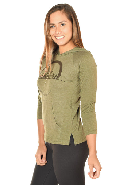 MINDFULNESS ON GREEN PULLOVER HOODIE - Third Eye Threads