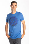 Throat Chakra on Linen Blend Tee - Third Eye Threads