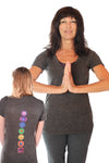 Linen V-Neck with Full Chakra Back