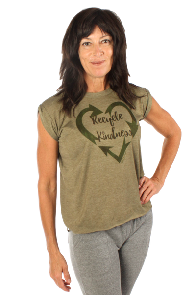 Recycle Kindness Rolled Cuff Short Sleeve Boxy Tee