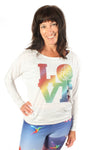 Rainbow Love Dolman - Third Eye Threads