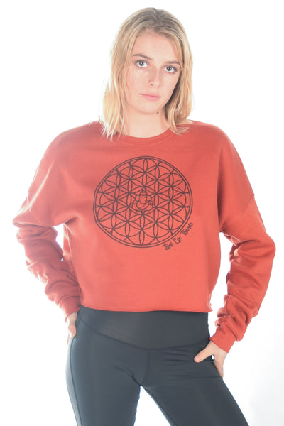 Flower Of Life Crop Hoodie - Third Eye Threads
