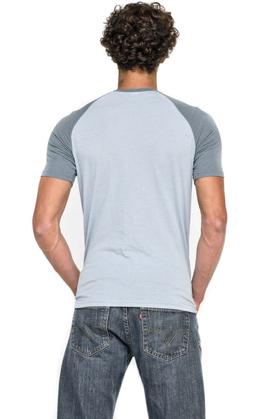 Third Eye Surf on Sky Short Sleeve Raglan - Third Eye Threads