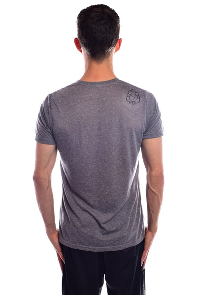 Love Ganesh on Ash  Linen Blend Crew Neck - Third Eye Threads