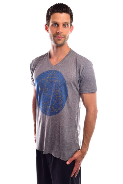 Third Eye Manifesto on AshLinen Blend V-Neck - Third Eye Threads