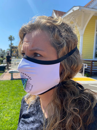 4 Pack Social Distancing REUSABLE MASK COVER 4 for $60