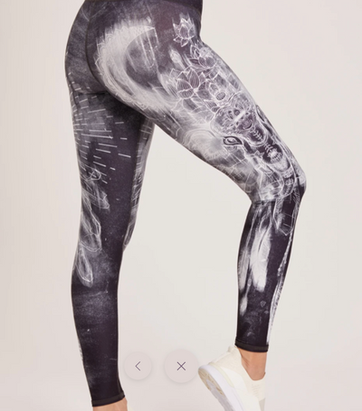 Niyama Sol High Waisted Ganesh and Hamsa Hand Black Legging