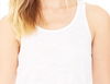 Flowy Racerback Tee With Crown Chakra