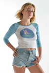 Mermaid on 3/4 Length Raglan - Third Eye Threads