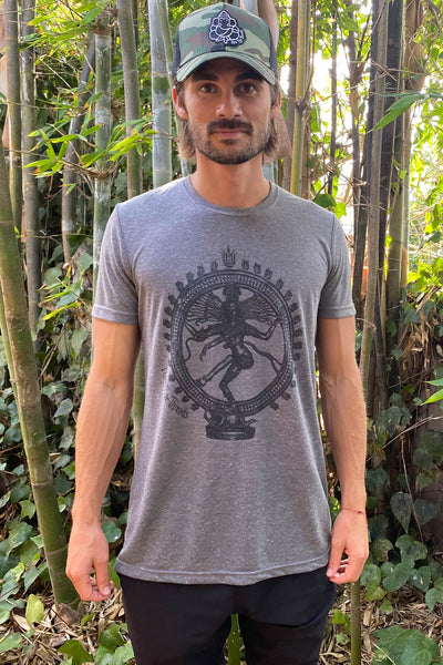 Dancing Shiva On Tri Blend Crew Neck Tee