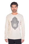Hamsa Hand Amulet on Lightweight Thermal