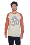 Paisley OM on Long-Sleeve Men's Raglan