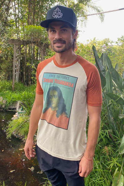 Swami Yogananda  From Self Realization Fellowship On Short Sleeve Raglan