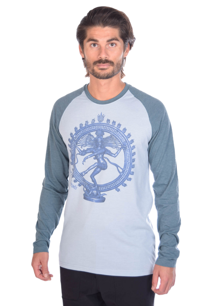 "Shiva ""The Destroyer And Creator"" on Long-Sleeve Men's Raglan"