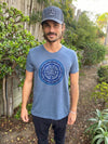 Sri Yantra with Ganesh On Tri Blend Crew Neck Tee