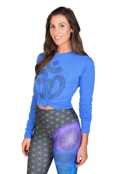 Paisley Om on Long Sleeve Blended Crew Neck