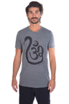 Shakti Snake Om on Linen Blend Crew Neck