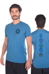 Rainbow Crystal Vibration Diamond Tri Blend Crew Neck Tee