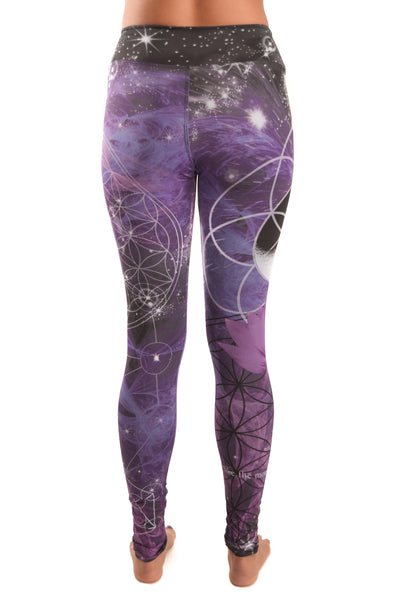 Purple Flower Pant Of Life Eco-light Recycled Water Bottle Pant
