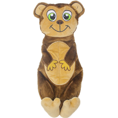 Outward Hound Squeakimals Squeaking Monkey Plush Dog Toy. LARGE
