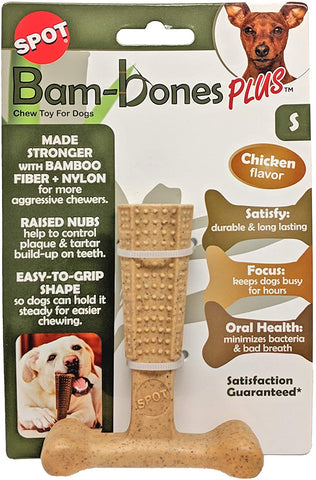 "Bambone Plus Chew Toy for Dogs Chicken 4"". SML"