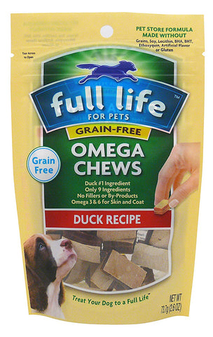 Full Life For Pets 5-Layer Omega Duck Flavor Chews. 284g