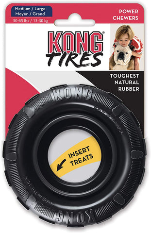 KONG Tires - Durable Rubber Chew Toy. Med/Lrg 30-65Lbs