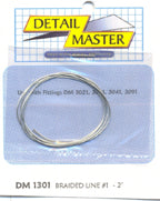 Detail Master DM-1301 Braided Line #1 2 ft .020 Thick - Shore Line Hobby