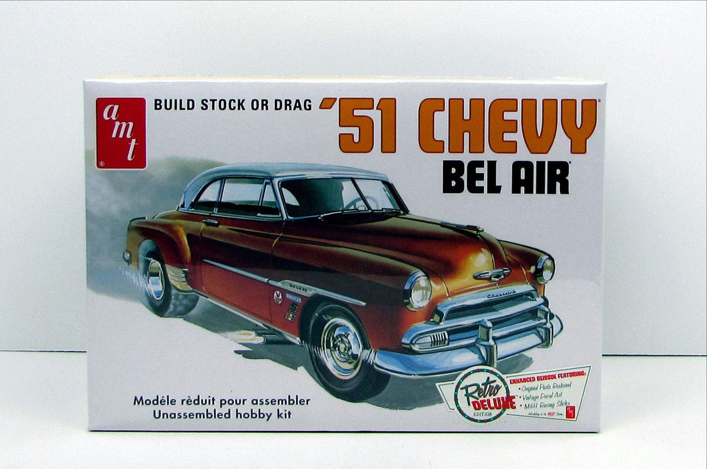1951 Chevy Bel Air AMT #862 1/25 New Classic Car Model Kit - Shore Line Hobby