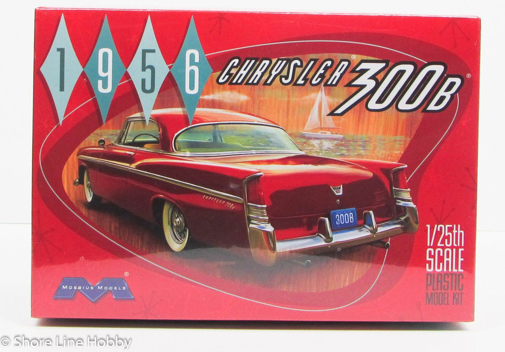 1956 Chrysler 300B Moebius 1207 1/25 New Car Model Kit - Shore Line Hobby