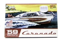 Lindberg Century Coronado Boat 1959 Speed Boat Model Kit Cartograf Decals 1/25 221