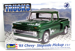 1965 Chevy Stepside Pickup Revell 85-7210 1/25 New Classic Truck Model Kit - shore-line-hobby