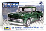 1965 Chevy Stepside Pickup Revell 85-7210 1/25 New Classic Truck Model Kit - Shore Line Hobby