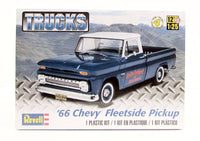 1966 Chevy Fleetside Pickup Revell 85-7225 1/25 Plastic Truck Model Kit - shore-line-hobby