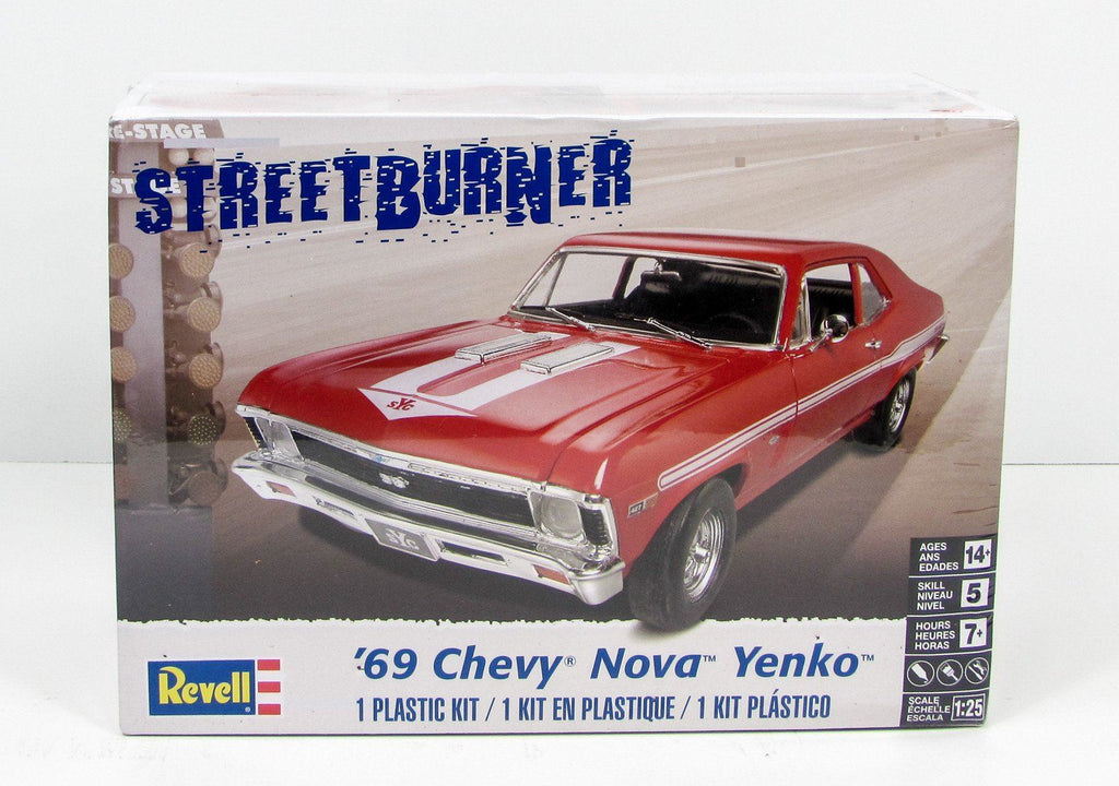 Revell Monogram 1969 Chevrolet Nova Yenko Plastic Car Model Kit 85-4423 1/25 - Shore Line Hobby
