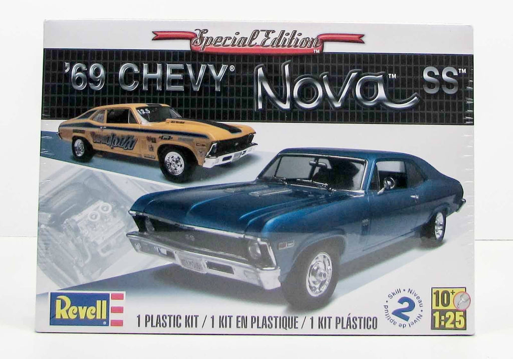 1969 Chevy Nova SS Special Edition Revell 85-2098 1/25 New Car Plastic Model Kit - shore-line-hobby