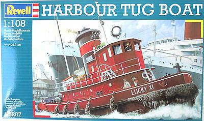 Harbor Tug Boat Revell Germany 1/108 Scale #05207 New - shore-line-hobby