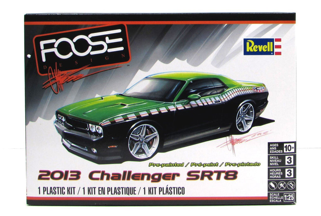 2013 Dodge Challenger SRT8 Revell 85-4398 1/25 New Car Model Kit - shore-line-hobby
