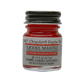 Testors 28007 Chrysler Engine Red Lacquer Paint 1/2 oz Bottle - shore-line-hobby