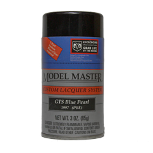 Testors 28129 3oz. Spray Model Master Auto Lacquer Dodge GTS Blue Pearl - Shore Line Hobby