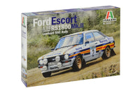 Ford Escort RS1800 MK. II RAC Rally Italeri 3650 1/24 Plastic Model Kit - Shore Line Hobby