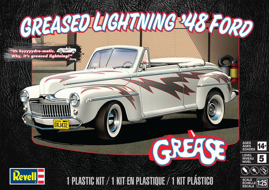 Revell Greased Lightning '48 Ford Convertible Model Car Kit 1/25 4443 - shore-line-hobby